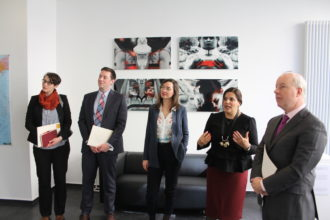 U.S. Embassy Chargé d'Affaires Kent Logsdon visits ERIAC