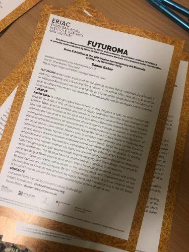 Venice – Presenting the FUTUROMA Curatorial Plan
