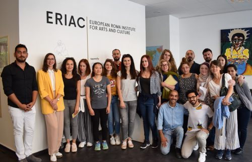 "Schoolclash visiting ERIAC's Exhibition ""Roma Women Weaving Europe"" on its last Week"